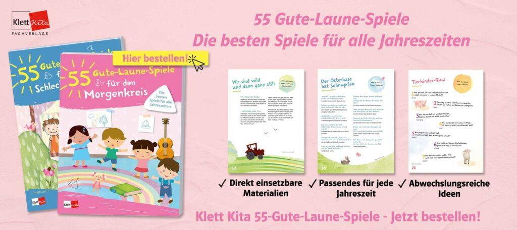 Banner 55 Gute Laune Spiele Mitmachgeschichte Sommer